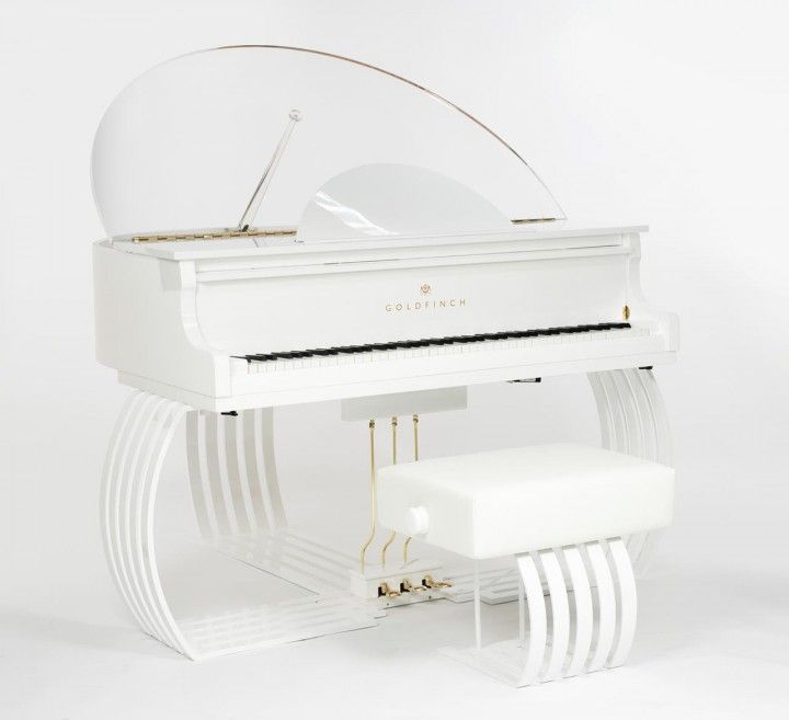 Goldfish exclusive grand piano for superyachts