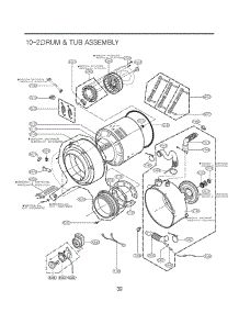 Section 2 parts for LG Washer WM2101HW / ABWEEUS from AppliancePartsPros.com