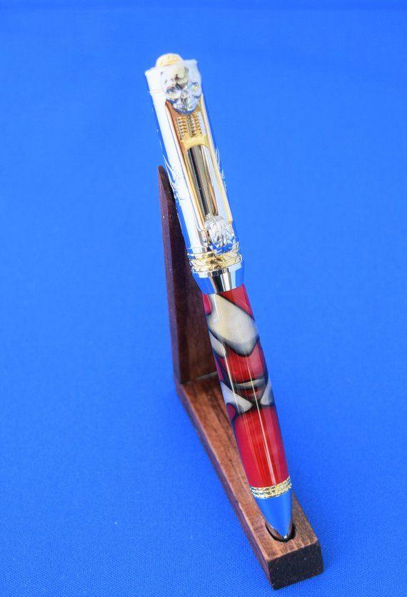 Celtic Twist Pen Antique Pewter in Kelly Green Acrylic