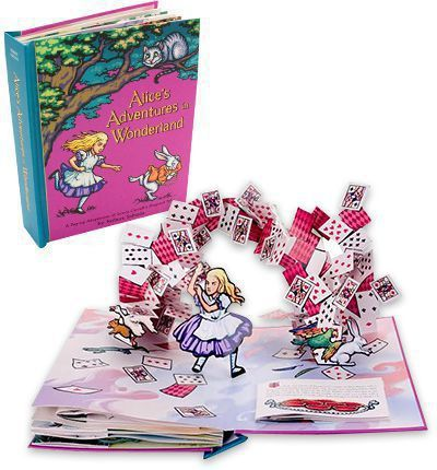 A pop-up version of this classic story with  paper engineering and Tenniel inspired illustrations.