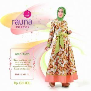 Gamis Rauna Model RK-005 Hijau