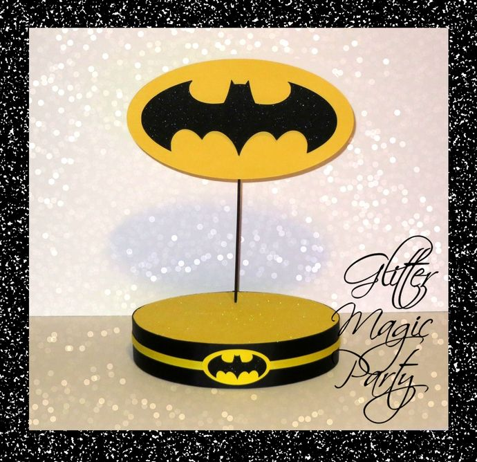 Copy of Batman Stand - Lollipops or Cakepops Stand - Batman Party Decoration - Batman inspired Party Decoration by GlitterMagicParty, $25.99 USD
