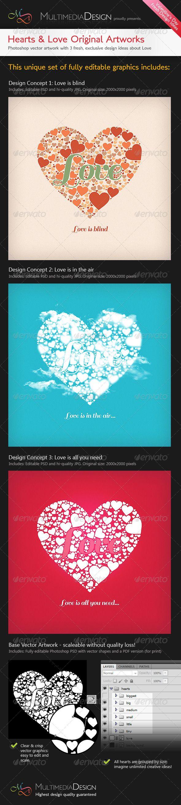 19 Best Grafika Images On Pinterest Info Graphics Color File Type Photoshop Psd Image Size 3400 X 2800 Resolution Valentines Heartslove Original Typography Designs