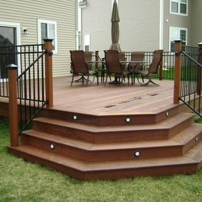 steps ideas on pinterest small decks front deck and deck stairs