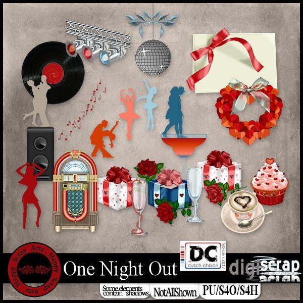 <p> Happy Scrap Arts   Een avondje uit, een feestje, naar de disco of een andere gelegenheid. Deze kit is geschikt voor al deze thema's en nog veel meer.</p>