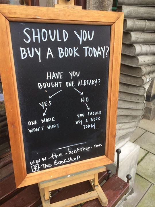 Should you buy a book today? from The Bookshop in Wigtown, Scotland