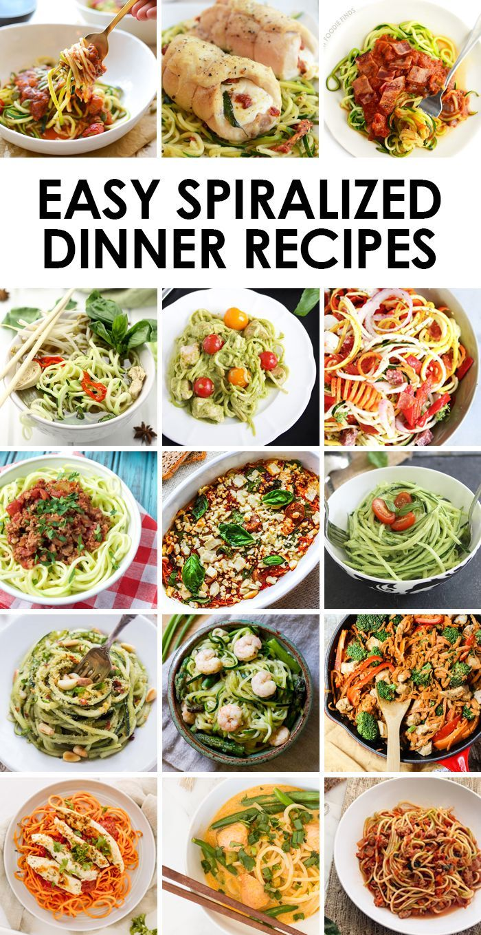 Start your New Year off with a bang and incorporate spiralized veggies into your dinner! They're lower in carb and easy to make!