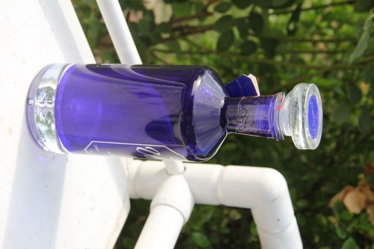 Ultimat Vodka Bottle - EMPTY - Imported from Poland - 750 ml - Cobalt Blue