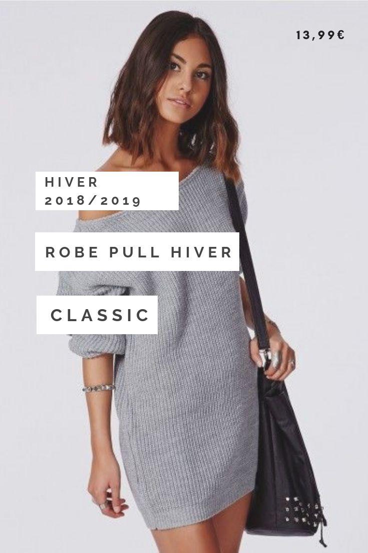 bb8eb22409c Tendance Hiver 2018 2019 • Robe Pull Hiver