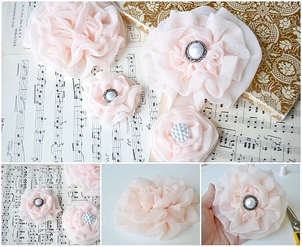 Chiffon: Chiffon Flowers, Hairbow, Ruffle Flower, Fabric Flowers, Hair Bows, Flower Tutorial, Hair Accessories