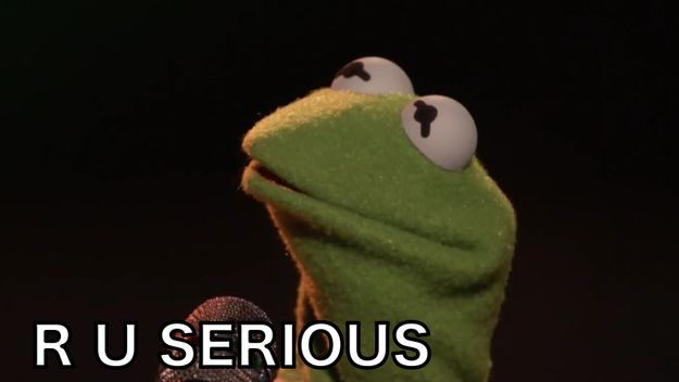 And Kermit was like... | Kermit The Frog Is Extrememely Embarrassed By CeeLo