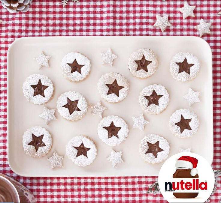 Decorated Shortbread Cutouts with Nutella® hazelnut spread