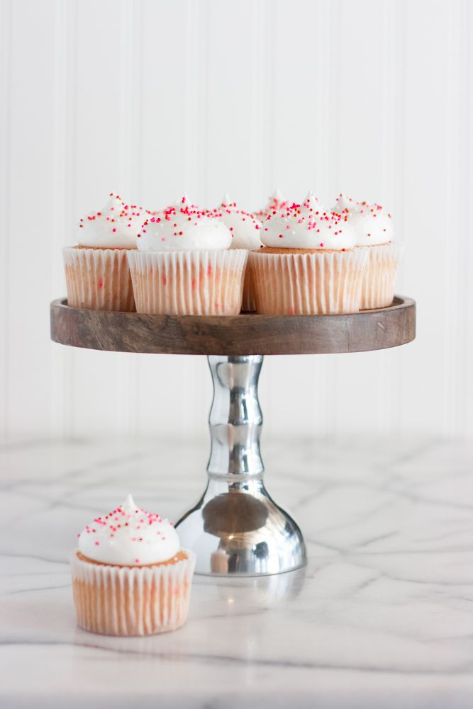 ... angel food cupcakes with 7 minute cloud frosting ...