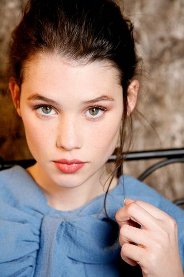 Astrid Berges-Frisbey. I love the baby blue top....it does for her what pink does for blondes