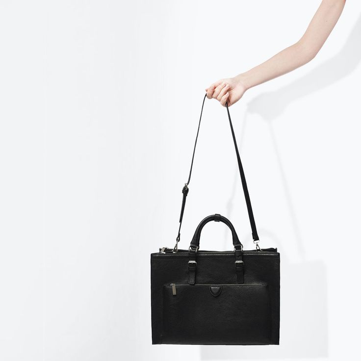 zara woman combined office. zara kobieta torba typu citybag office z suwakami zara woman combined office