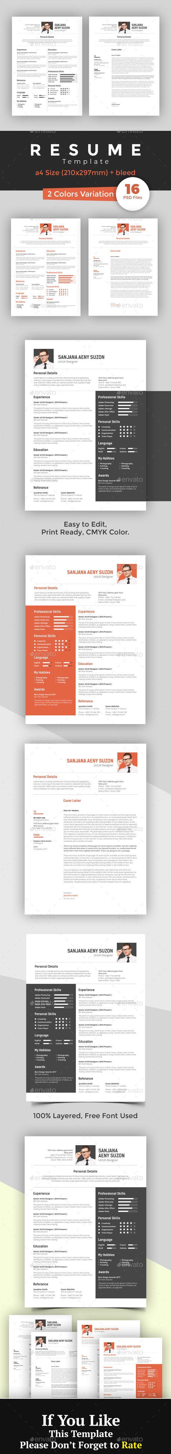 printable resume format%0A CV Resume Template