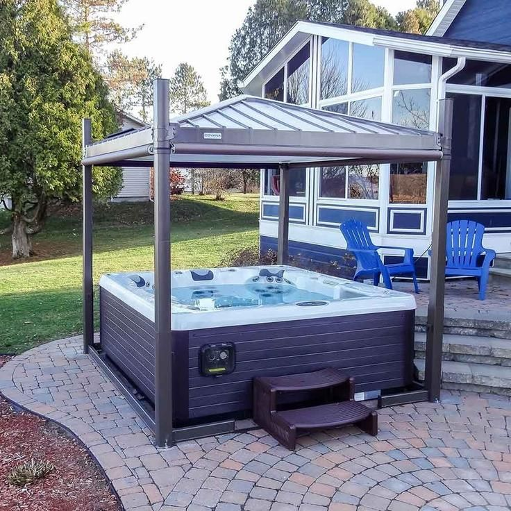 Oasis Mocha Led Spa Cover In 2020 Hot Tub Outdoor Hot Tub Gazebo Hot Tub Landscaping