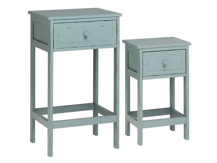 Vintage style side tables with drawers