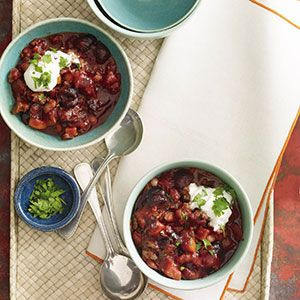 A Sweet Summer Chili Featuring Chipotle Chiles and Cherries. Got spoons? #SELFmagazine