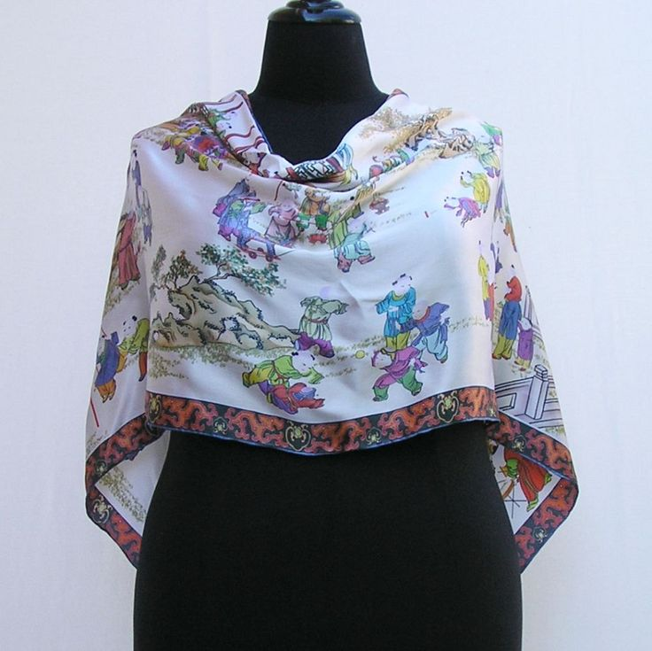 White poncho, silk poncho, oriental poncho, white wrap, silk wrap, oriental wrap, asymmetrical poncho wrap, white silk shawl, white capelet by Rethreading on Etsy