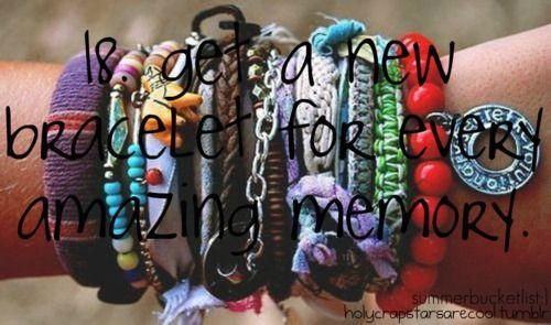 bracelet: Summer Bucketlist, Amazing Memories, Summer Bucket Lists, Summer 2014, Holycrapstarsarecool Tumblr, Summerbucketlist, Summer Buckets Lists, Promotion Time, Follow