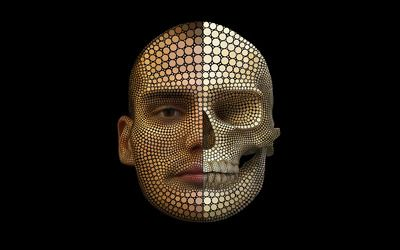 Human head wallpaper