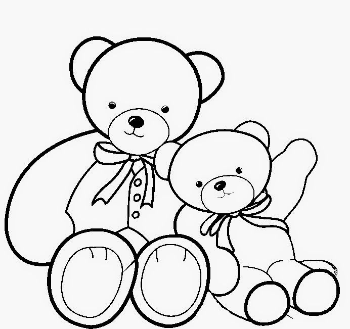 Best & Beautiful Copule Teddy Bear Colour Drawing HD ...