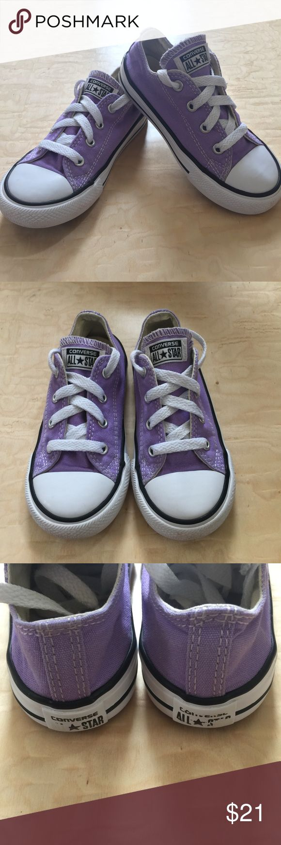 Converse for toddler size 9 Purple Converse for toddler girl. Super cute and very good used condition. Converse Shoes Sneakers