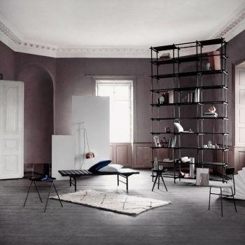 Menu Daybed, black stained ash / black leather | Sofas | Furniture | Finnish Design Shop