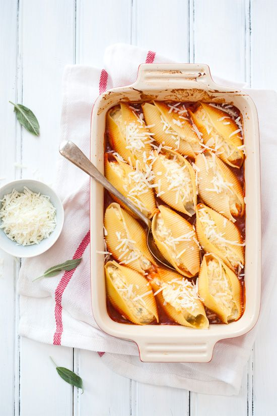 Pumpkin & Ricotta Stuffed Shells-must try for fall!