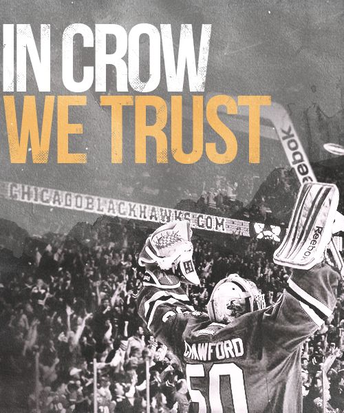 Blackhawk's goalie Corey Crawford AKA Crow! | Happy to know he'll be around for awhile!