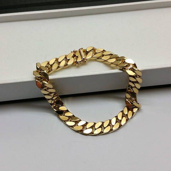 Panzerarmband Armband Gold 333 voll massiv edel GA122