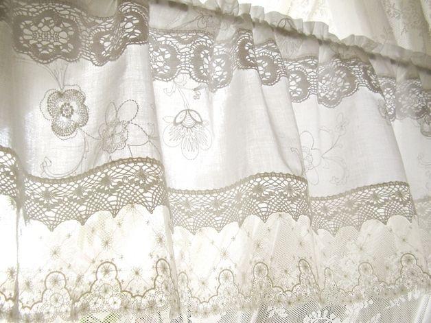 ber ideen zu gardinen landhausstil auf pinterest landhaus gardinen gardinen und. Black Bedroom Furniture Sets. Home Design Ideas