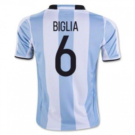 Argentina 2016 Biglia 6 Hjemmedrakt Kortermet.  http://www.fotballteam.com/argentina-2016-biglia-6-hjemmedrakt-kortermet.  #fotballdrakter