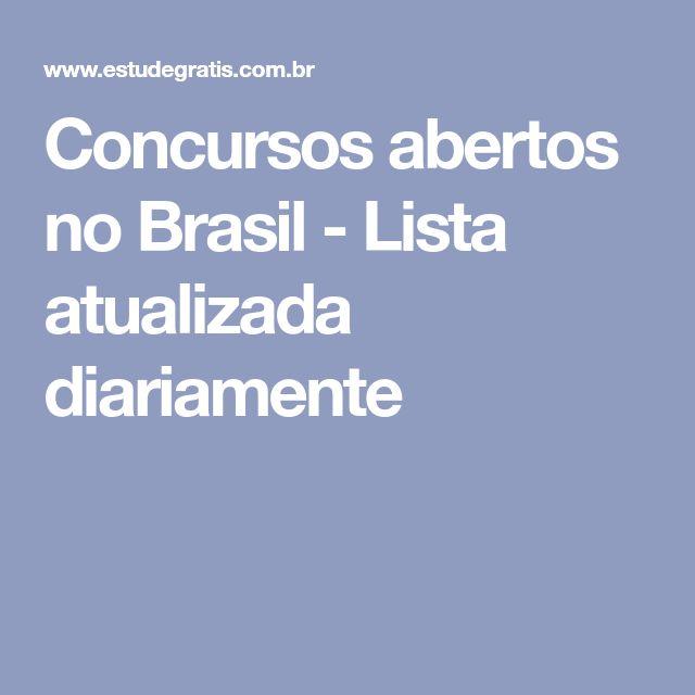 Concursos abertos no Brasil - Lista atualizada diariamente