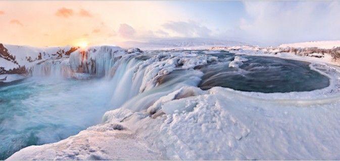 Cachoeira dos Deuses em Gullfoss, Islândia