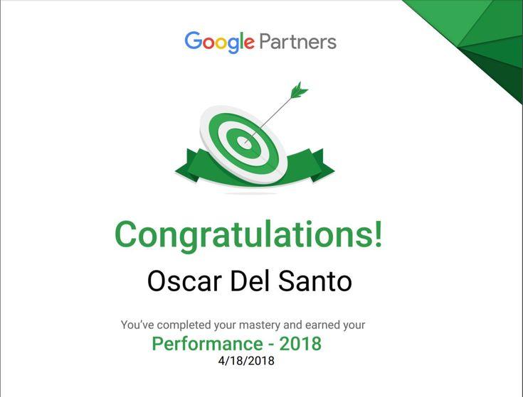 Google Partners Performance 2018 (18/04/2018)