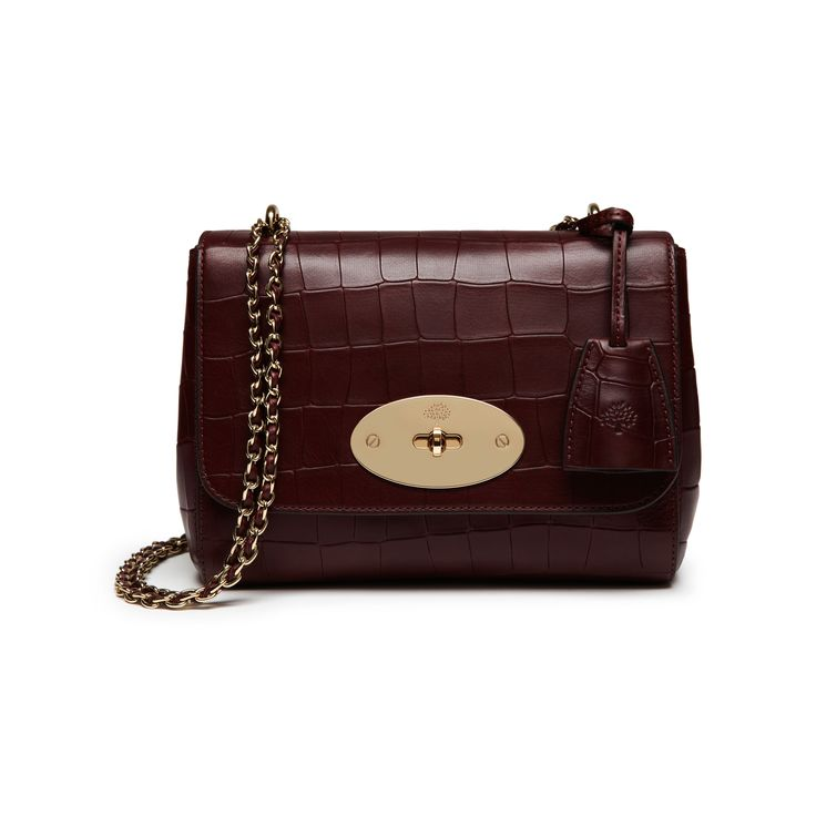 Mulberry - Lily in Oxblood Deep Embossed Croc Print