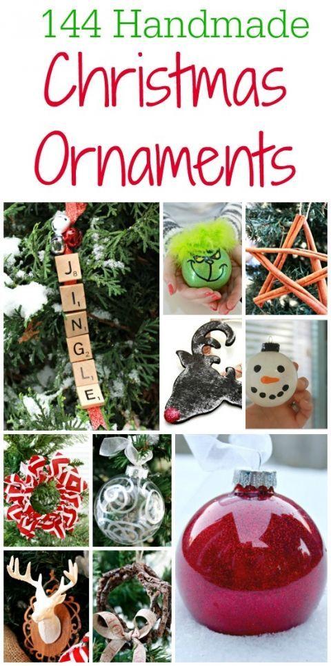 144 Handmade Christmas Ornament Ideas - Great Teacher Gift Ideas -  #MerryChristmas #Christmas