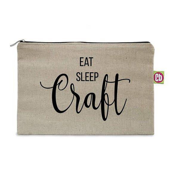 Eat sleep craft quote purse affiliate linkEdit description
