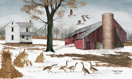 Heading South by Billy Jacob Country Americana Farm Art Print- 12x20