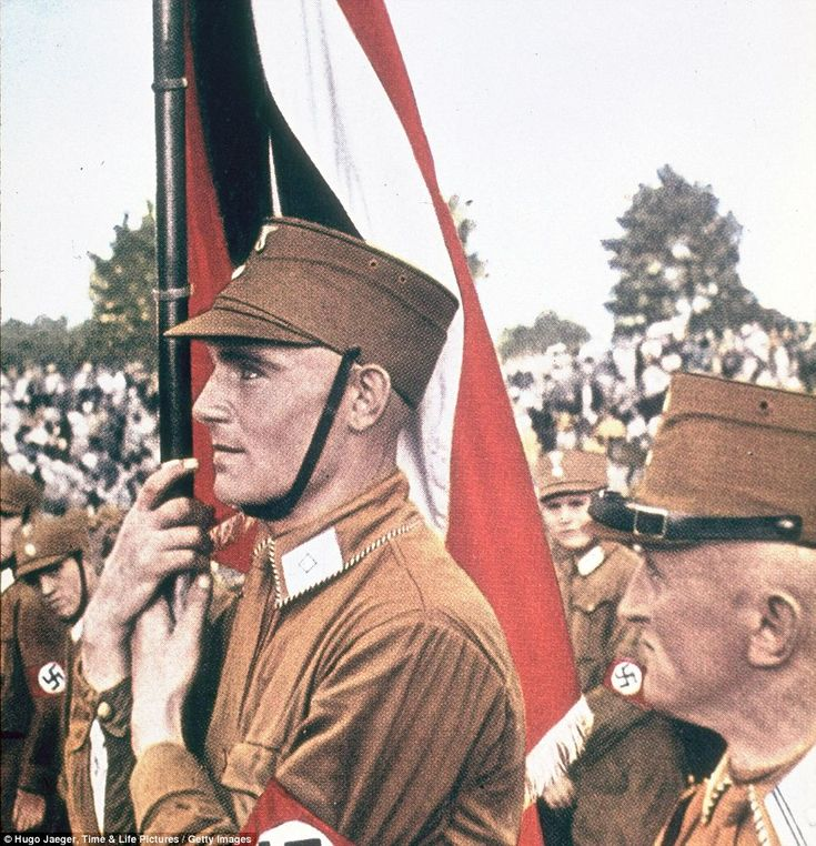 Storm troops: Nazi Brown Shirts, soldiers from Germany's Sturmabteilung or SA