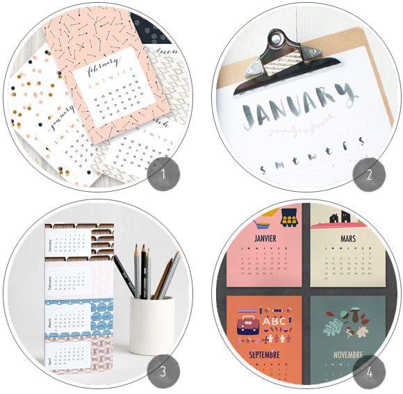 Freebie Roundup: 14 Printable 2014 Calendars