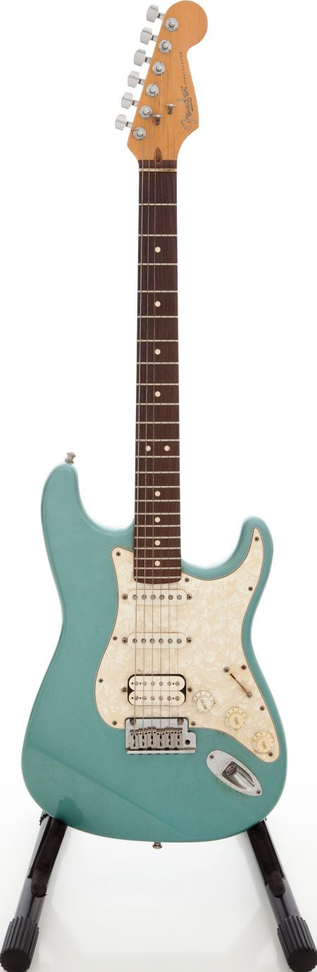 1997 Fender Lone Star Stratocaster USA Ocean Turquoise Solid Body Electric Guitar