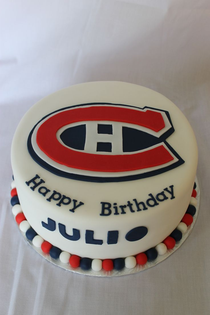 Montreal Canadians birthday cake