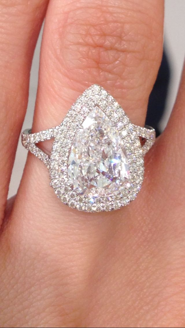 my halo pear shaped engagement ring from alan