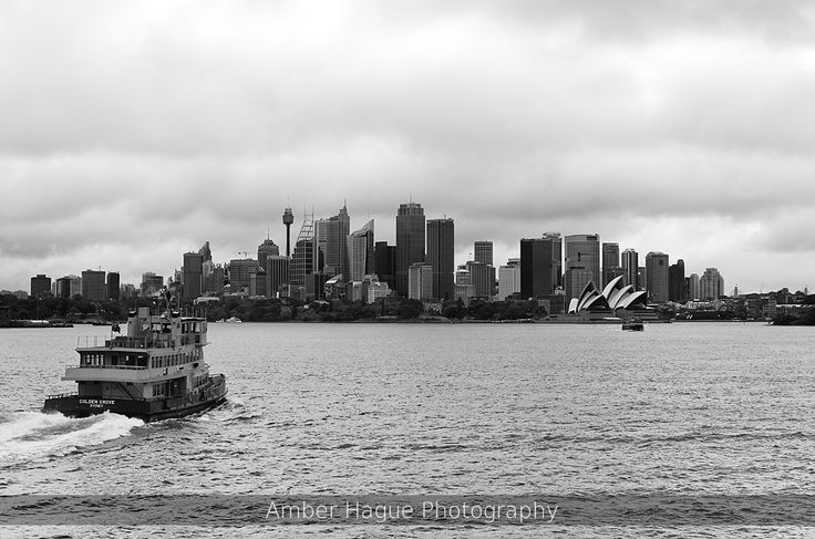 Sydney Harbor, Australia on a very cold, stormy summer day.