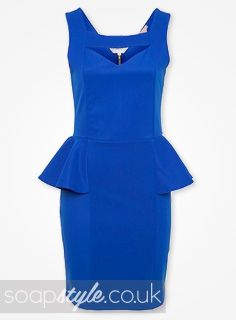 I wore a dress almost identical to this last night at a wedding. Love the peplum style.