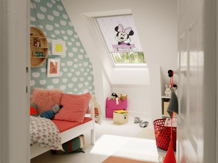 Pokój dla dziewczynki. Fot. Velux