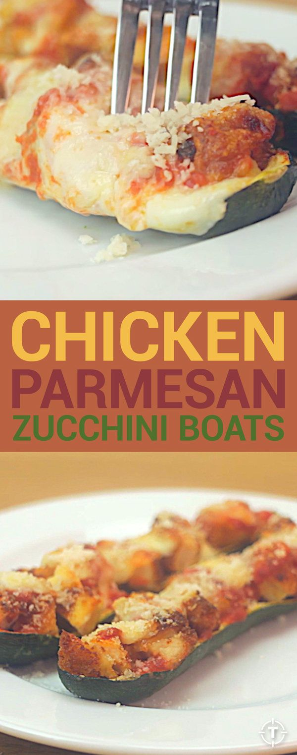 Chicken Parmesan Zucchini Boat Recipe Video